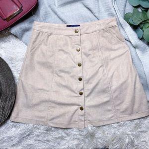 NWOT Blue Rain Snap Front Skirt